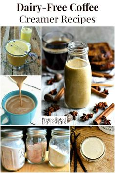 If you are dairy-free, your coffee creamer options may be limited. These dairy-free coffee creamer recipes will give you a variety of delicious flavors. Dairy Free Coffee Creamer, Coffee Creamer Recipe, Non Dairy Creamer, Dairy Free Recipes, Easy Recipes, Keto Recipes, How To Make Coffee, Coffee Recipes, Drink Recipes