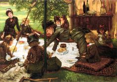 Children's Party, by James Tissot (1836 – 1902, French)
