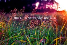 """not all who wander are lost"" ~J.R.R Tolkien"