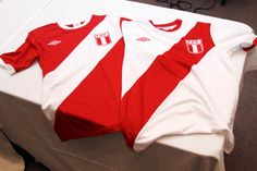 Peru's retro football shirts.    One of my favorite designs.  Such a cool and dynamic design.   Almost 80 years of history