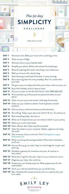 30 easy, tactical steps to your best life. Join our Simplicity Challenge today! … 30 easy, tactical steps to your best life. Join our Simplicity Challenge today! Konmari, Life Hacks, Minimalism Challenge, Fee Du Logis, 30 Tag, Vie Simple, Minimalist Lifestyle, Life Organization, Closet Organisation