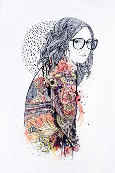 Beauty In Versicolor by ARDENTEES , via Behance