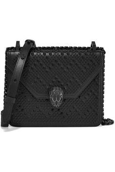 BVLGARI - + Nicholas Kirkwood embellished leather shoulder bag 233649e04ff
