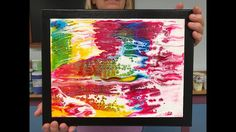 Acrylic Pour Painting: Mounting A Paper Painting On Canvas