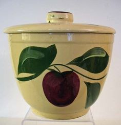 Watt Pottery Apple Ice Bucket, Hard-to-Find