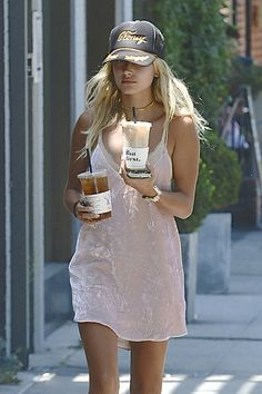 """baldwinupdates: """" July 26: [HQs] Hailey spotted out and about in West Hollywood, CA """""""