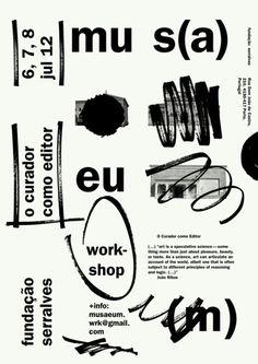 """MUS(A)EU(M), """"o curador como editor"""", Workshop held by Marco Balesteros."""