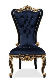 Absolom Roche Side Chair - Black & Gold