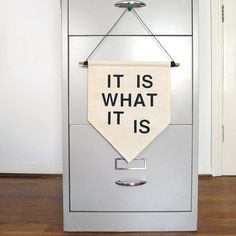 It Is What It Is - Handmade Canvas Wall Banner Gift / Present by ItsOkKid on Etsy