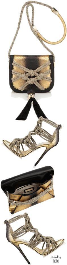 Jimmy Choo ~ Stiletto Sandals and coordinating Purses – makramee Women's Shoes Sandals, Shoe Boots, Shoe Bag, Stylish Handbags, Jimmy Choo Shoes, Sexy Heels, Me Too Shoes, Purses, Tan Pumps