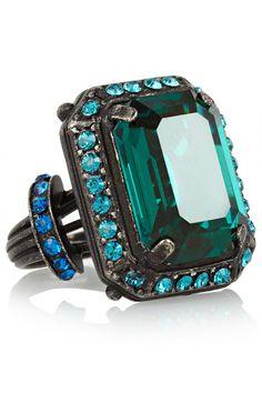 Lanvin Swarovski crystal ring, $495