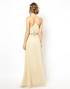 Jarlo Cami Strap Maxi Dress with Lace Insert on Wanelo