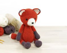 This written crochet pattern includes all the instructions needed to make your own 4-way jointed fox with moving arms and legs.  Includes one PDF file, 14 pages. Pattern is written in English, using US crochet terminology. I included detailed instructions, many step-by-step photos and useful tips and tricks.  SIZE 27 cm (10 2/3) tall, when crocheted with DK weight wool and a 2,50 mm crochet hook.  DIFFICULTY 3. Intermediate – includes some less common crochet techniques and color changes...