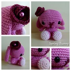 Spring Bunny Amigurumi for my little niece :-) The pattern is made by Stephanie Jessica Lau and can be found here http://blog.craftzine.com/archive/2011/04/craft_pattern_spring_bunny.html
