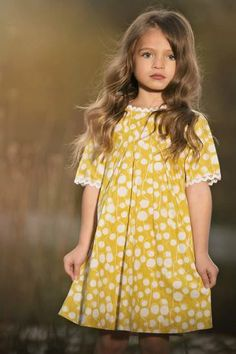 Persnickety Clothing - Penny Dress - Yellow | Sail Away - One Good Thread