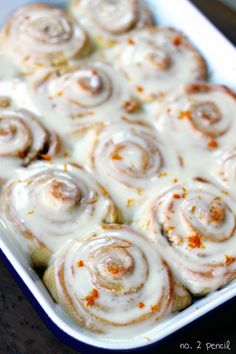 Orange Sweet Rolls, made from yellow cake mix! - Certainly does simplify things!