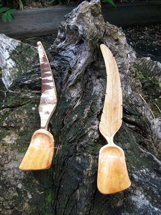 Two handmade spoons