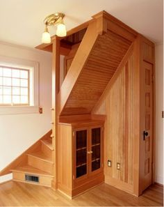 Staircase for small spaces. Maybe if we finish the attic? Chelsie
