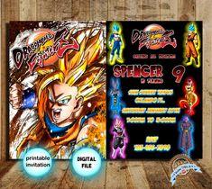 Dragon Ball Z Invitation Dbz Party