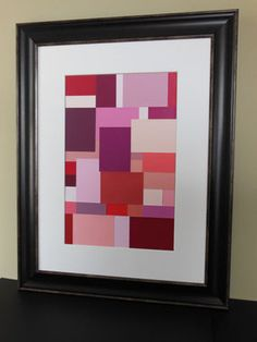 Paint Chip Collage Abstract Art