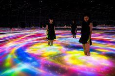 Атмосферная выставка цифрового искусства в Токио (Интернет-журнал ETODAY)