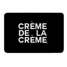"""East Urban Home Creme De La Creme by Geordanna Cordero-Fields Bath Mat Size: 17""""W x 24""""L"""