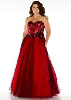 2015 Floor Length Sweetheart Red Lace Up Crystals Sleeveless Ball Gown Homecoming / Plus Size Dresses Fabulouss 76505