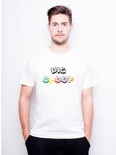 T-Shirt męski z nadrukiem dla taty - Big Daddy w Allbag-Allprints na DaWanda.com