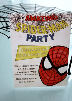 Spiderman Birthday Invite- Ordered these!