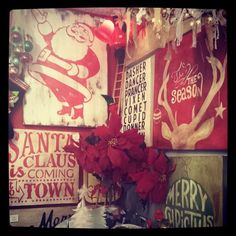 #reclaimed #wood #vintage #signs #christmas