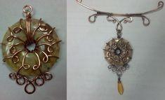 Art, Jewelry & Zentangle Ebooks by EniOken Wire Jewelry Designs, Jewelry Art, Unique Jewelry, Jewelry Ideas, Jewellery, Wire Wrapped Jewelry, Donuts, Gemstone Pendants, Jewelry Making