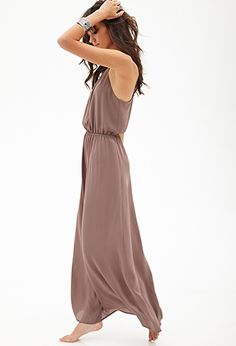 Cutout woven maxi dress- Forever21
