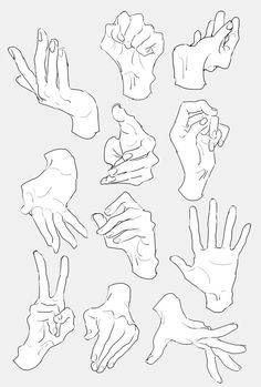 two hand reference Drawings Hand Drawing Reference, Anime Poses Reference, Anatomy Reference, Female Pose Reference, Drawing Skills, Drawing Lessons, Drawing Tips, Drawing Techniques, Drawing Base