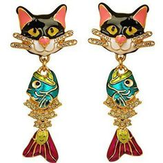 Ritzy Couture Alley Cats Post Earrings (Goldtone)  Lets face it we all love cats.  You can show your passion for cats by wearing cute cat jewelry for women.  You will find all kinds of pretty kitty jewelry that you will absolutely love.  If you are a statement necklace person then a cat statement necklace would be ideal.  I love the look of cat wrist watches along with some of the cute cat brooches and pins.  However cat rings and bracelets would make a great gift for the crazy cat lady in…