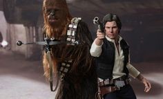 Share this with your friends and receive a $15 promo code. Click here to write your message. Star Wars Han Solo and Chewbacca Sixth Scale Figure Set