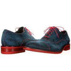 Contrast lace swede Oxford shoes