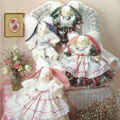 Sweet Angel Bunnies Vintage ©1990 Simplicity Crafts by karl79