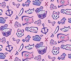 Girl Power Pirates fabric by andybauer on Spoonflower - custom fabric
