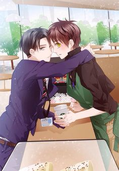 Eren Jaeger x Levi Ackerman_Attack on Titan_Shingeki no kyojin Eren E Levi, Armin, Attack On Titan Ships, Attack On Titan Anime, Yandere, Wattpad, Sidon Zelda, Cosplay Meme, Starbucks