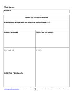 Backward Planning Template | scope of work template