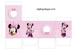 caixa cubo frame minnie rosa