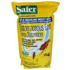 Safer® Brand Diatomaceous Earth - Bed Bug, Ant and Crawling Insect Killer Ant Insect, Insect Pest, Bug Control, Pest Control, Farm Gardens, Outdoor Gardens, Integrated Pest Management, Silverfish, Pulling Weeds