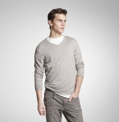 Silk Cotton V-Neck Sweater