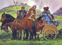 Cartimandua, Queen of the Brigantes, joins with Caesius Nasica, commander of the IX Legion, against her usurper-husband Venutius. Northern England, around 56 AD