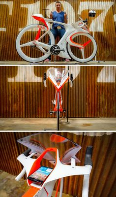 The Eff You See Eye concept bike is an electronic bike that has a space built just for your phone