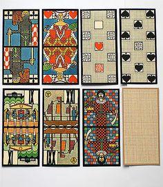1972-Artist-DITHER-MOSER-JUGENDSTIL-ART-NOUVEAU-TAROCK-deck-Piatnik