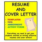 The information in this file is helpful to students when writing resumes and cover letters. Students complete a variety of activities to ensure their resume and cover letters are as thorough as possible. Students also have fun writing a cover letter for their future. Rubric included!