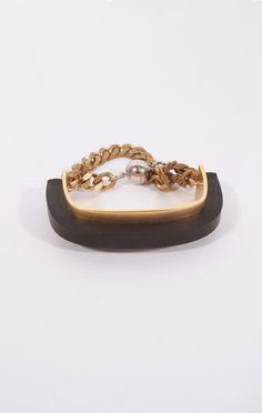 FAUX/real Metallic Bold Bracelet
