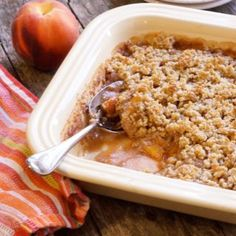 An easy and delicious alternative to pie, this Grain-free Peach Crisp is a perfect summer dessert! This tasty treat is also paleo and vegan-friendly.