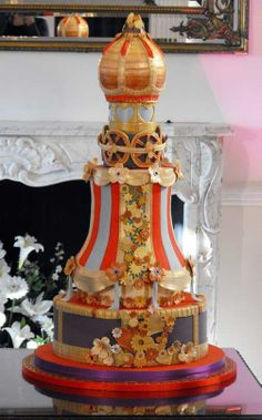 Steampunk wedding cake – cool! On CakeCentral.com.